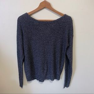 SO Black knit sweater with cross design